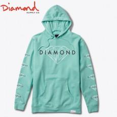 [DIAMOND SUPPLY CO] 다이아몬드 서플라이 BRILLIANT PULL OVER HOOD DIAMOND BLUE 브릴리언트 풀오버 후드 다이아몬드 블루색상