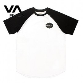 [RVCA] AH041-306 BLK (루카 기본로고 나그란 티셔츠 블랙)