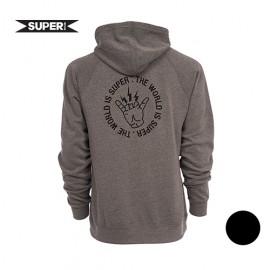 [SUPER BRAND] VOLTAGE PULLOVER BLK/GRY (슈퍼브랜드 볼티지 풀오버 셔츠 블랙/그레이)