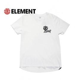 [ELEMENT] AH021-311 WHT  (엘리먼트 로고 반팔티셔츠 화이트)