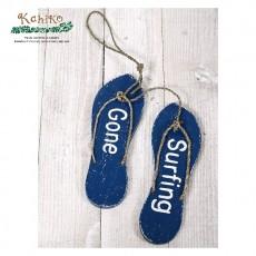 서핑 인테리어 소품 비치 샌달 사인보드 BLUE