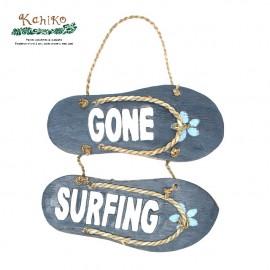 서핑 인테리어 소품 비치 샌들 사인보드 GONE SURFING