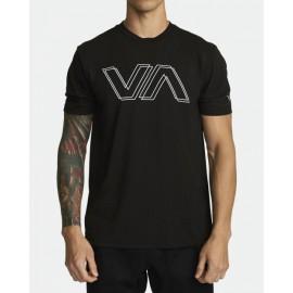 [RVCA] VA OFFSET SS BLK 루카 브이에이 오프셋 티셔츠 블랙